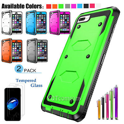 Hybrid Rubber Shockproof Dirt Dust Proof Hard Cover Case Skin for Apple iPhone