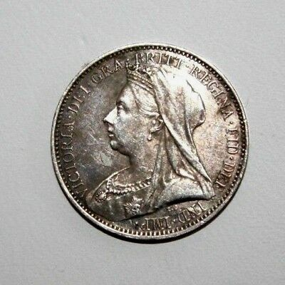 1893 Great Britain Maundy 4 Pence Fourpence Silver Coin