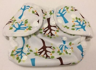 """Thirsties Diaper Cover """"Trees"""" Size One (0-9 Months)"""
