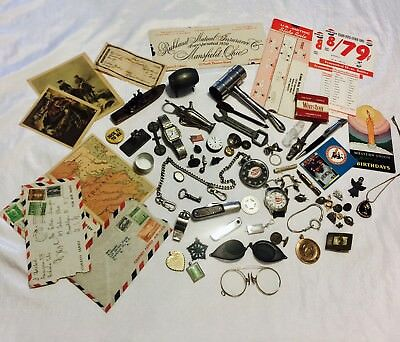 Large Lot Of Vintage and Assorted Collectibles Junk Drawer Lot