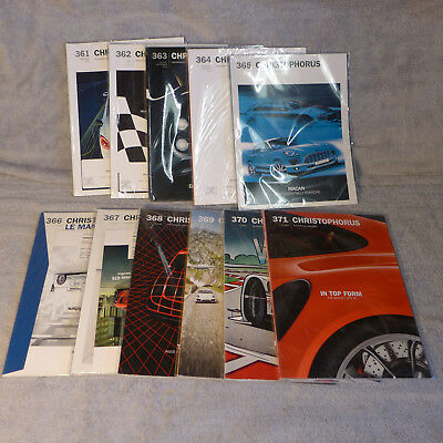 Porsche Christophorus Magazines -  11 issues - 361 through 371