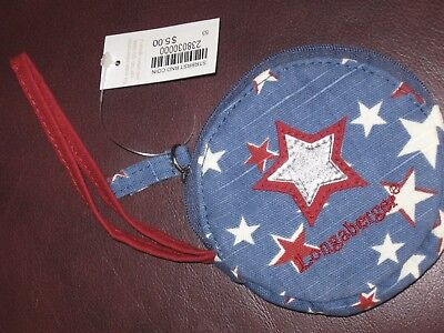 Longaberger AMERICAN STARBURST Fabric COIN Purse NWT