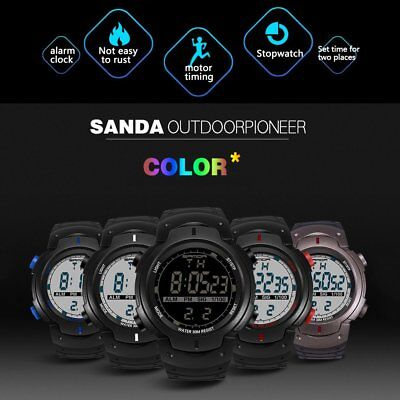 Multifunctional Waterproof 3ATM Electronic Sports Watch for Outdoor Sports G4U
