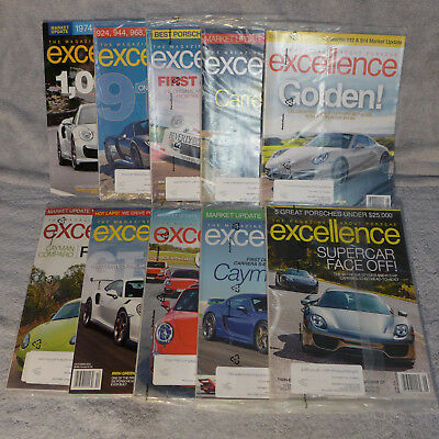 Porsche Excellence Magazines - 8 issues - 213, 214, 215, 216, 225, 230, 231, 232