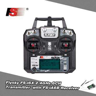 Flysky FS-i6X 2.4GHz 6CH AFHDS 2A RC Transmitter with FS-iA6B Receiver for N7M6