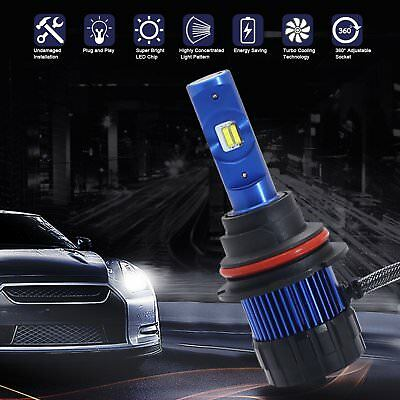 LED Headlight Hi Low Beam Bulbs All-in-One Conversion Kit super bright 50W 6000K