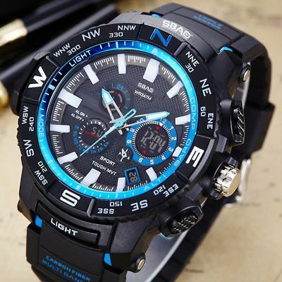Waterproof Sports Multifunction LED Digital Electronic Military Men Wristwatches