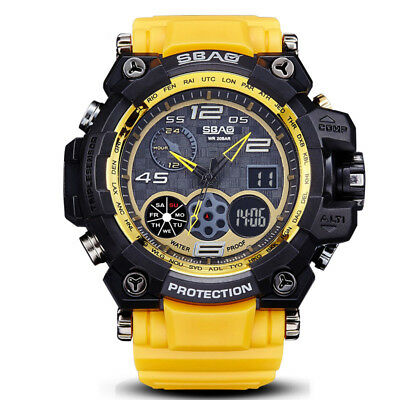 Waterproof Dual Display Sport Mens Watches Military Multifunction Digital Watch