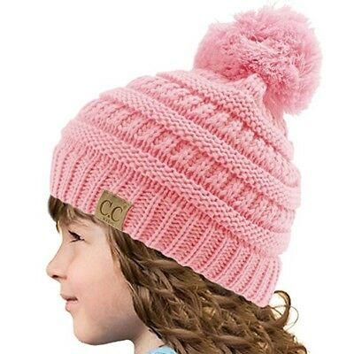 Unisex Baby Toddler Kids Knitted Beanie Warm Hat Cap Winter Warm Girls Boys CUTE