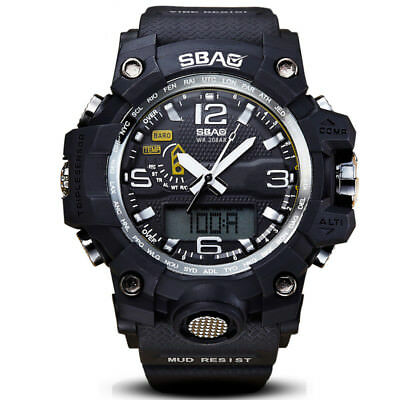 New Military Digital Waterproof Watch Outdoor Sport LED Dual Display Men Watches