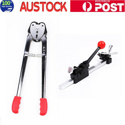 Metal PP Packing Belt Strapping Machine Pliers With Tensioner w Cutter Packing