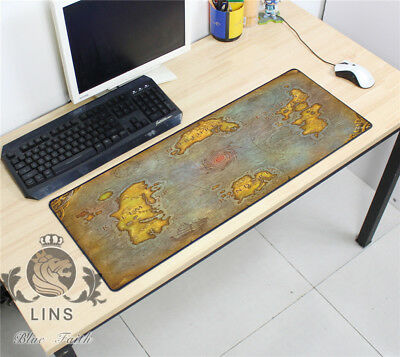 Azeroth old world map World of Warcraft RPG Games DIY map mouse pad 80*30CM