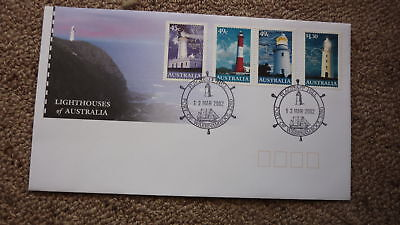2002 Lighthouses Of Australian Fdc, 4 Stamps, Lighthouse Pm Warrnambool