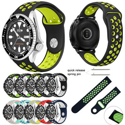 Soft Silicone Sport Watch Band Strap for Men's Seiko Watch fit 20mm 22mm Lug