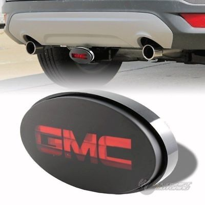 """Bully Hitch Cover 2"""" / 1.25"""" Rear Trailer Towing Receiver Brake Lights for GMC"""