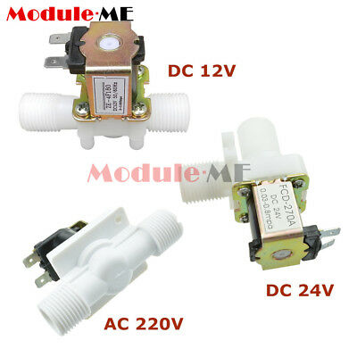 """12/24/220V 1/2"""" N/C Magnetic Electric Solenoid Valve Water Air Inlet Flow Switch"""