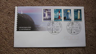 2002 Lighthouses Of Australian Fdc, 4 Stamps, Lighthouse Pm Aireys Inlet