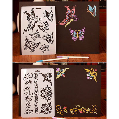 Templates Stamp Paper Card Stencils Scrapbooking School Drawing Sheets Diy Make