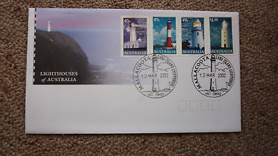 2002 Lighthouses Of Australian Fdc, 4 Stamps, Lighthouse Pm Mallacoota