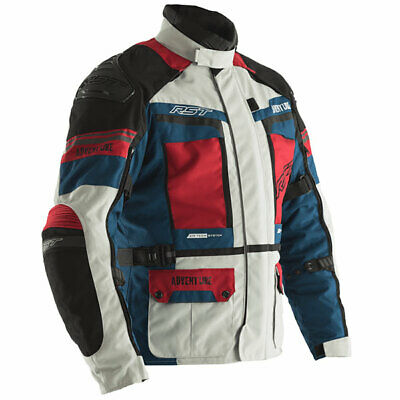 RST Motorbike Pro Series Adventure 3 CE Textile Jacket Ice / Blue / Red