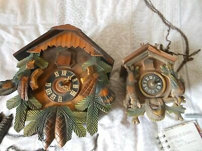 3 Old Cuckoo Clocks Spares or Repair