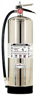 New 2018 Amerex 2.5 Gallon Water Fire Extinguisher With Schrader Valve
