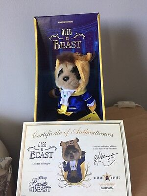 Beauty and the beast meerkat toy with paperwork
