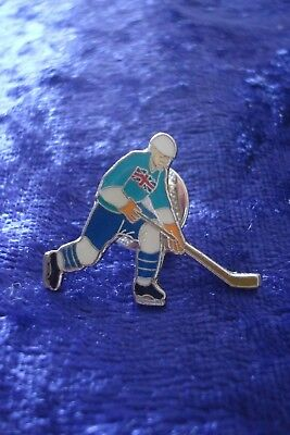 Pin Badge.great Britain Ice Hockey Player.rare.world Championship.