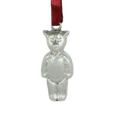 Baby gift! Sterling Silver Teddy Bear Rattle, Hallmarked 1927