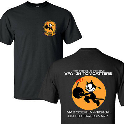 Vfa31 Tomcats Strike Fighter Squadron United States Navy T-Shirts S-3Xl