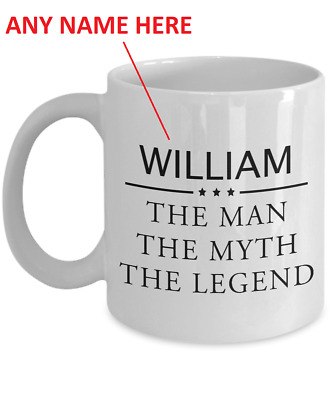7198975046b The Man Myth Legend Mug Personalised Named Coffee Cup 11 oz Gift For Dad  Mens