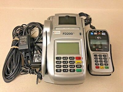 First Data FD200Ti Credit Card & Check Reader w/ FD-35 Pin Pad