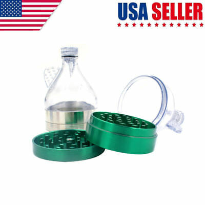 Tobacco Herb Spice Grinder 3-layer Herbal Alloy Smoke Metal Chromium Crusher US