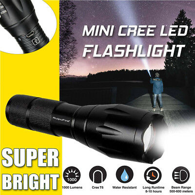 5000LM T6 Zoomable Flashlight Lamp Hand Torch USB Charge Outdoor Tactical Hot