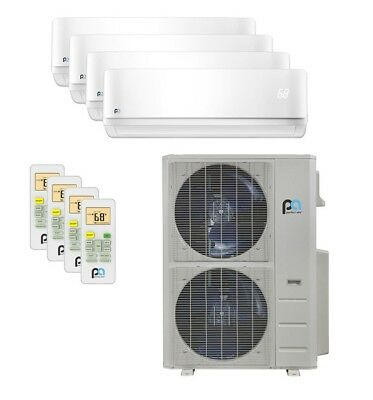 Perfect Aire 48K BTU 21.5 SEER Quad Zone Heat Pump Wall Mounted