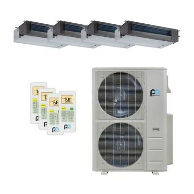 Perfect Aire 48K BTU 21.5 SEER Quad Zone Heat Pump Concealed Duct