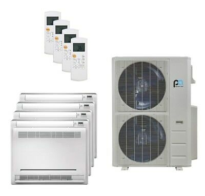 Perfect Aire 48K BTU 21.5 SEER Quad Zone Heat Pump Floor Mounted