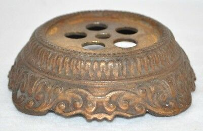 Antique Cast Metal Iron Brass Bronze Table GWTW Lamp Light Part Ornate Base