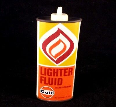 Vintage Gulf Lighter Fluid Canada Handy Oiler Rare Old Advertising Oil Tin Can