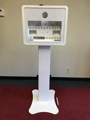 "PORTABLE PHOTO BOOTH - SHELL ONLY - ""  T19  "" -White With Printer Shelf"
