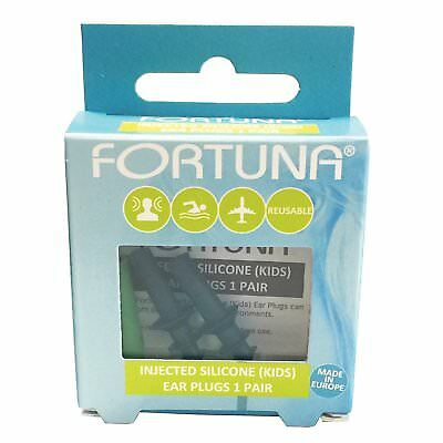 Fortuna Injected Silicone Kids Reusable Ear Plugs - 1 Pair*