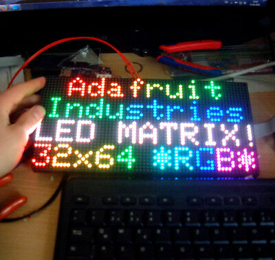 64 x 32 RGB LED Matrix Display (p4 - 4mm Pitch) (for Raspberry Pi or Arduino)