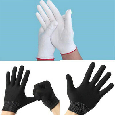 2-10 Pair Antistatic Work Glove ESD PC Electronic Nylon Knit Working Safety Grip
