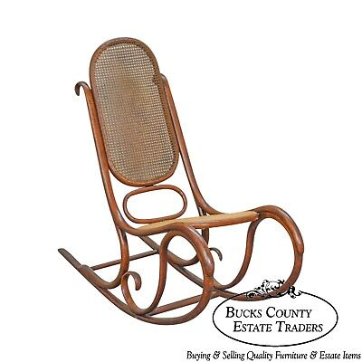 Thonet Vintage Antique Bentwood Rocker Rocking Chair