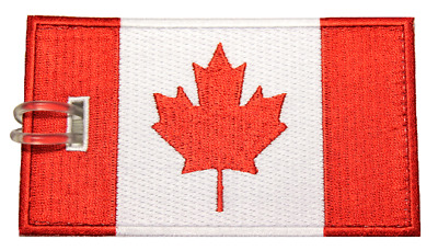 Canada Flag Embroidered Luggage Tag (NEVER BREAKS!)