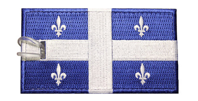 Quebec Flag Embroidered Luggage Tag (NEVER BREAKS!)