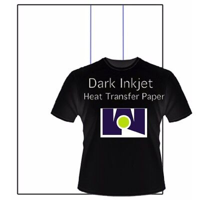 "Best Ink Jet Iron-On Heat Transfer Paper -  Dark fabric  -100 Sheets 8.5"" x 11"""