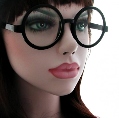 Cool Clear Lens Glasses Bold Pixie Smart Geek Style Large Retro Round Frame