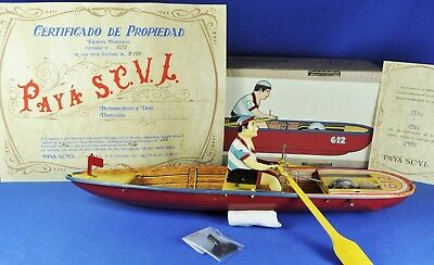 Blech / Tin Toy: Paya Boot mit Ruderer / Boat with Rower, barca remos, 612, 1985