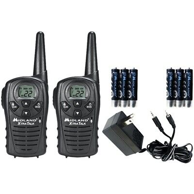 MIDLAND LXT118VP 18-Mile GMRS Radio Pair with Charger & Rechargeable Batteries